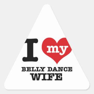 Eu amo meu namorado da dança do ventre adesivos em forma de triângulo