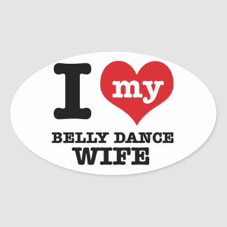 Eu amo meu namorado da dança do ventre adesivos oval