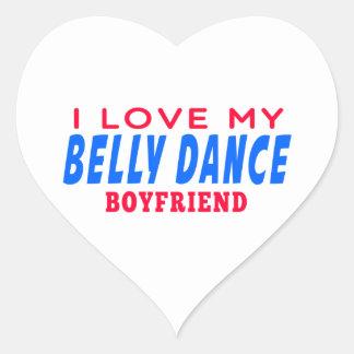 Eu amo meu namorado da dança do ventre adesivos de corações