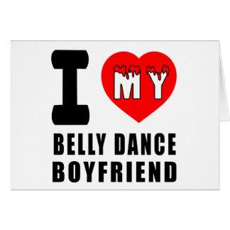 Eu amo meu namorado da dança do ventre cartões