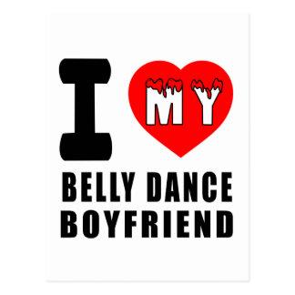 Eu amo meu namorado da dança do ventre cartoes postais
