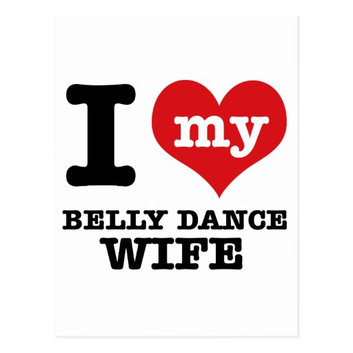 Eu amo meu namorado da dança do ventre cartao postal