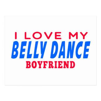 Eu amo meu namorado da dança do ventre cartões postais