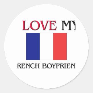 Eu amo meu namorado francês adesivo