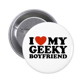 Eu amo meu namorado Geeky Bóton Redondo 5.08cm