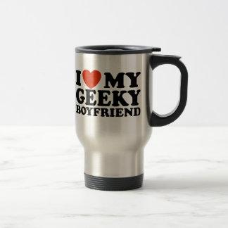 Eu amo meu namorado Geeky Caneca Térmica