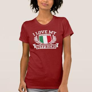 Eu amo meu namorado italiano camisetas