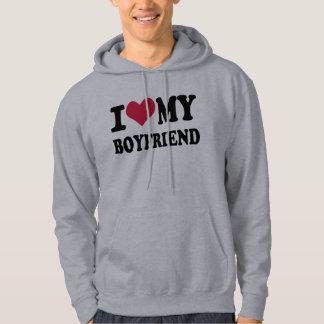 Eu amo meu namorado moleton com capuz