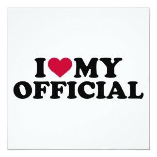 Eu amo meu oficial convite quadrado 13.35 x 13.35cm