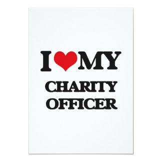 Eu amo meu oficial da caridade convite 12.7 x 17.78cm