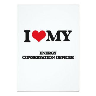 Eu amo meu oficial da conservação de energia convite 12.7 x 17.78cm