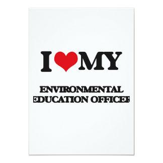 Eu amo meu oficial da educação ambiental convite 12.7 x 17.78cm