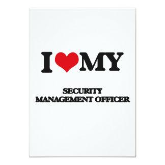 Eu amo meu oficial da gestão da segurança convite 12.7 x 17.78cm