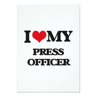 Eu amo meu oficial da imprensa convite 12.7 x 17.78cm