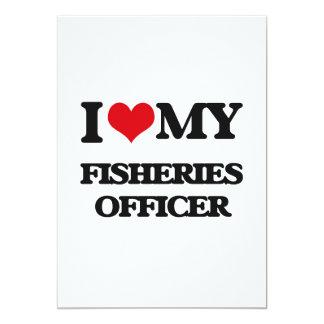 Eu amo meu oficial da pesca convite 12.7 x 17.78cm