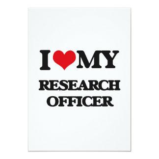 Eu amo meu oficial da pesquisa convite 12.7 x 17.78cm