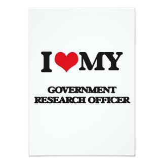 Eu amo meu oficial da pesquisa do governo convite 12.7 x 17.78cm