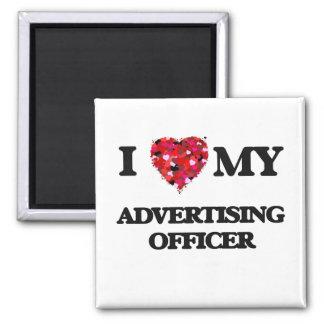 Eu amo meu oficial da propaganda ímã quadrado