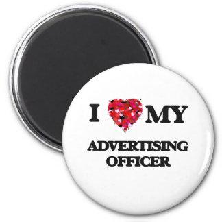 Eu amo meu oficial da propaganda ímã redondo 5.08cm