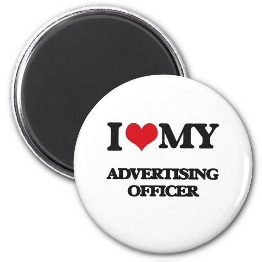Eu amo meu oficial da propaganda imãs de refrigerador