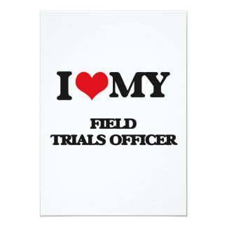 Eu amo meu oficial das experimentações de campo convite 12.7 x 17.78cm