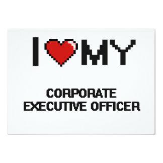 Eu amo meu oficial de executivo empresarial convite 12.7 x 17.78cm