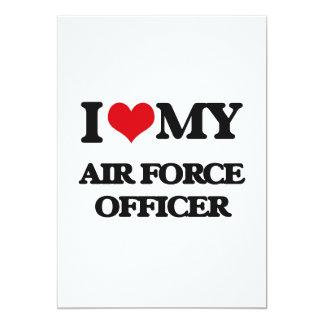 Eu amo meu oficial de força aérea convite 12.7 x 17.78cm