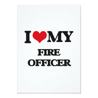 Eu amo meu oficial do fogo convite 12.7 x 17.78cm