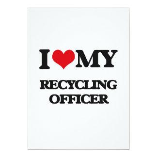 Eu amo meu oficial do reciclagem convite 12.7 x 17.78cm