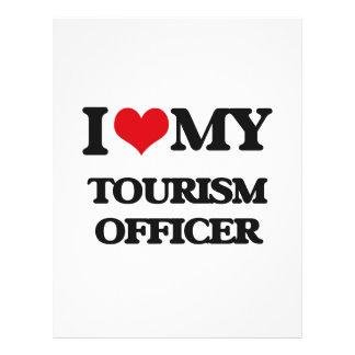 Eu amo meu oficial do turismo panfletos personalizado
