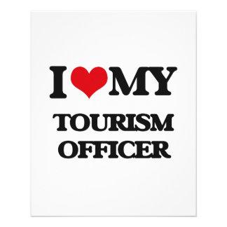 Eu amo meu oficial do turismo panfleto personalizados