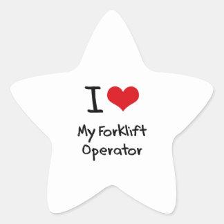 Eu amo meu operador da empilhadeira adesivo estrela