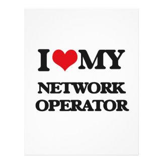 Eu amo meu operador de rede panfletos personalizado