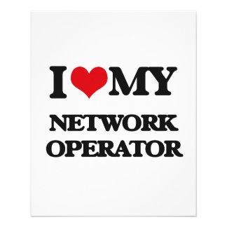 Eu amo meu operador de rede panfleto personalizados