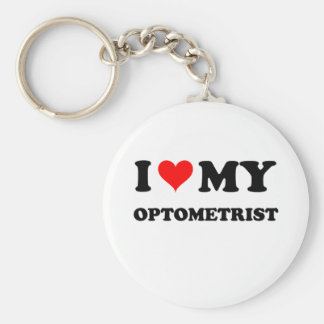 Eu amo meu optometrista chaveiros