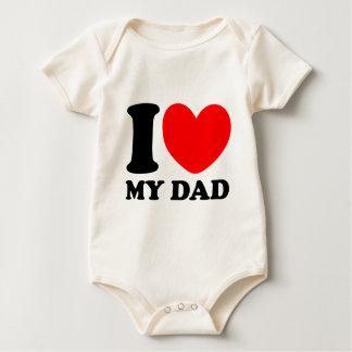 Eu amo meu pai body para bebê