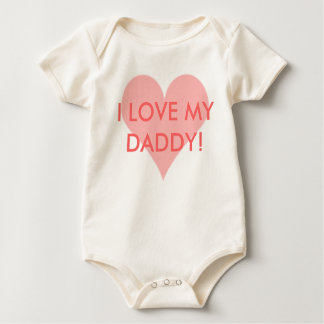 EU AMO MEU PAI! camisa do bebê
