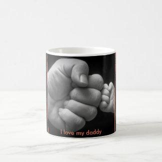 """Eu amo meu pai """"colisão ele"""" caneca"""