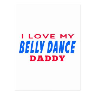 Eu amo meu pai da dança do ventre cartao postal