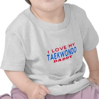 Eu amo meu pai de Taekwondo T-shirt
