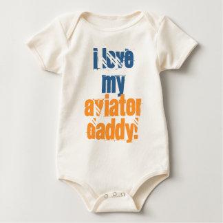 Eu amo meu pai do aviador body para bebê