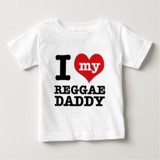 Eu amo meu pai do dançarino da reggae camiseta para bebê