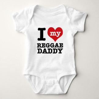 Eu amo meu pai do dançarino da reggae tshirt