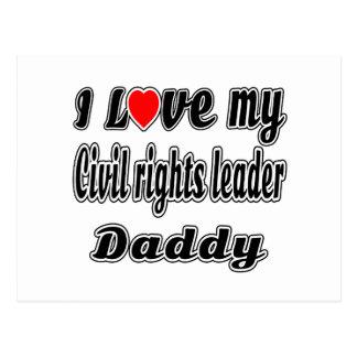 Eu amo meu pai do líder dos direitos civis cartão postal