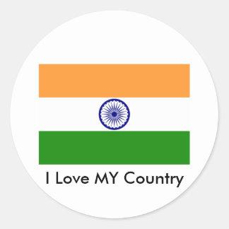 Eu amo MEU país India Adesivo