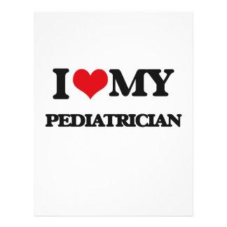 Eu amo meu pediatra modelo de panfletos