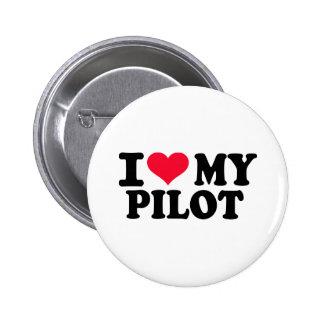 Eu amo meu piloto bóton redondo 5.08cm