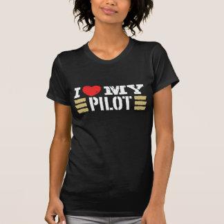Eu amo meu piloto camiseta