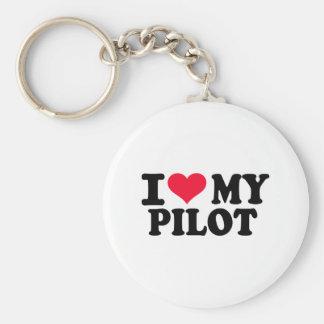Eu amo meu piloto chaveiro