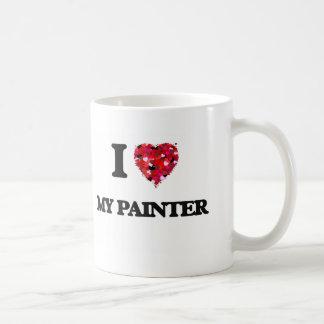 Eu amo meu pintor caneca